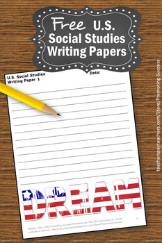 FREE Social Studies Writing Paper, US Presidents Day Writing Paper