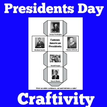 Presidents Day Activities | Presidents Day Craft | Presidents Day Craftivity