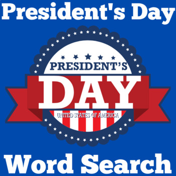 Presidents Day Activity | Presidents Day Word Search