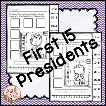 Presidents Day Math: Subtraction Practice