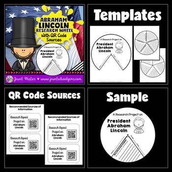 Presidents' Day Activities BUNDLE (Lincoln and Washington Research Crafts)