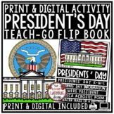 United States Presidents' Day Writing Flip Book - Presidents' Day Activities