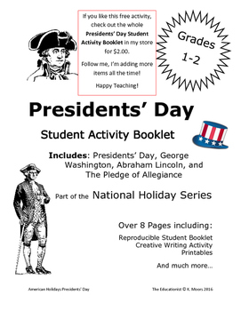 Presidents' Day Word Search Activity