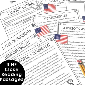 Presidents' Day Activities Non Fiction