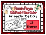 Presidents Day - 26 Shapes - Hole Punch Cards / Bingo Daub