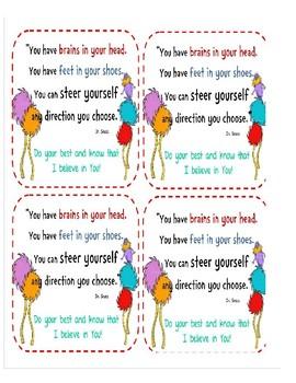 Lorax testing inspiration cards