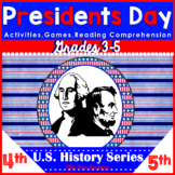 Presidents' Day Word Search, Writing, Reading and more! 3rd, 4th & 5th grades!
