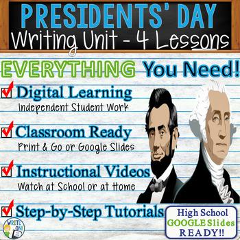 Presidents' Day Writing BUNDLE! Argumentative, Persuasive,