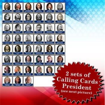 Presidents' Day 4x4 Bingo 30 Cards