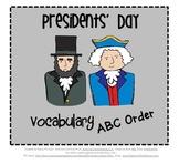 ABC Order - Presidents' Day Theme