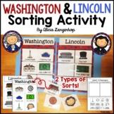 Presidents' Day Abraham Lincoln George Washington Sorting