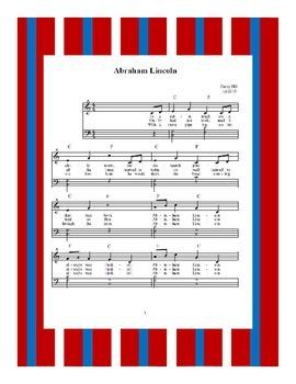 President's Day Abraham Lincoln Sheet Music