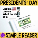 Presidents' Day Simple Reading for Kindergarten (Abraham Lincoln)