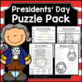 Presidents' Day Activities - Math & Literacy Puzzles | Dis