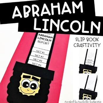 Presidents Day Activities | Abraham Lincoln Flip Book