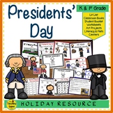 Presidents' Day Unit:  Activities & Centers