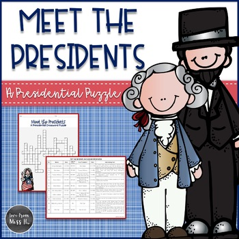 Presidents Day Activities: Comprehension Crossword Puzzle
