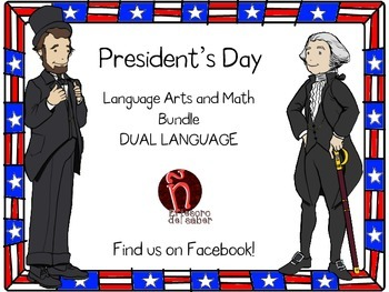 DUAL Language - President's Day Activities + Money