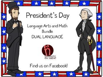 DUAL Language - President's Day Activities + Money