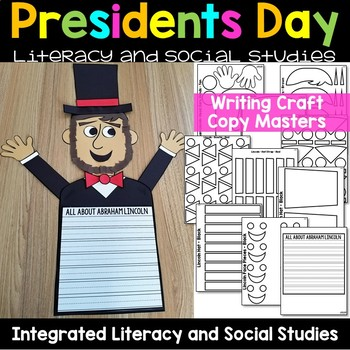 Presidents Day Activities - George Washington Abraham Lincoln Books and Craft