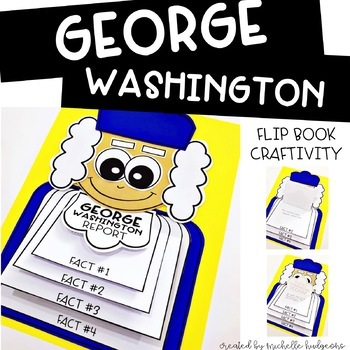 Presidents Day Activities | George Washington Flip Book