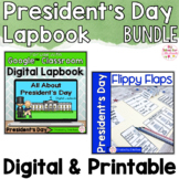 Presidents Day Activities Interactive Notebook Digital and Printable Bundle
