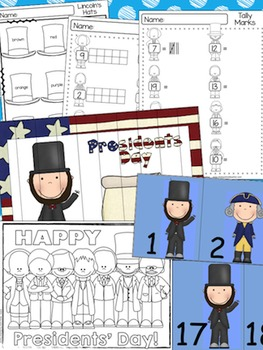 Presidents Day Math & Literacy Activities