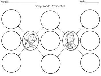 President's Day Activities + Money - Spanish - Día de los presidentes