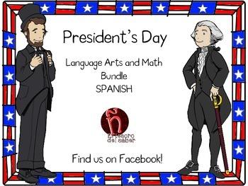 President's Day Activities + Money - Spanish - Día de los