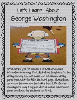 President's Day Activities (informative texts, crafts, writing, and much more!)