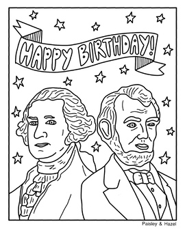 Presidents' Day Activity- Collaboration Poster