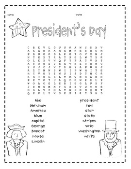 President's Day Activity Craft Pack