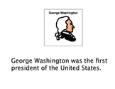 President's Day Adaptive Book + Comprehension Acitivties austism-lang tx
