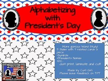President's Day Alphabetizing