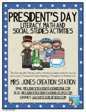 President's Day & America Literacy, Math and Social Studie
