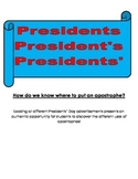 Presidents' Day Apostrophe Lesson