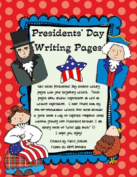 Presidents' Day Artistic Writing