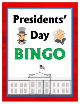 Presidents' Day BINGO + 12 bonus pages of vocabulary words