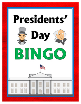 Presidents' Day BINGO + 12 bonus pages of vocabulary words