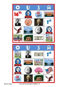 FREE President's Day Bingo: 24 cards {A Hughes Design}