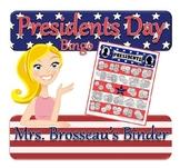 Money Math - Presidents Day Bingo Cards - Adding Coins - 3