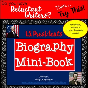 Presidents' Day Biography Mini Book