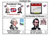 Presidents' Day 2 Emergent Reader Booklets - ENGLISH