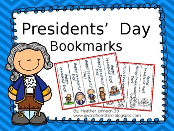 Presidents' Day Bookmarks