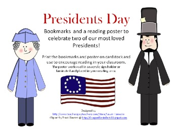 Presidents Day Bookmarks and Reading Poster