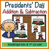 Presidents' Day Build 2 Addend 0-20 Addition & Subtraction Number Sentence