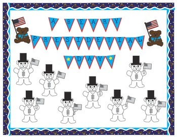 President's Day Bulletin Board - Borders, Frames, Letters and a Craftivity too!