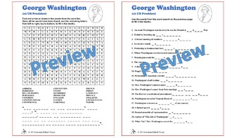Presidents' Day Word Search/Fill in the Blank Bundle: Washington, Lincoln, Obama