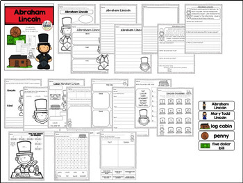 Presidents' Day Bundle - Literacy and Math Activities