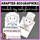 Presidents Day Bundle Adapted Biographies and Activities f